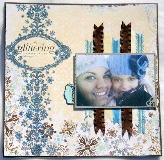 Glittering Snowflakes - Scrapbook.com