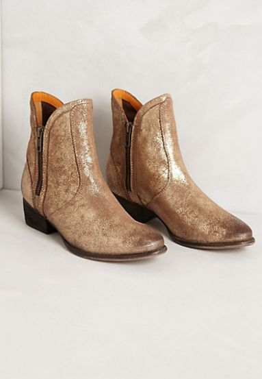 Metallic booties. Oh my heart!: