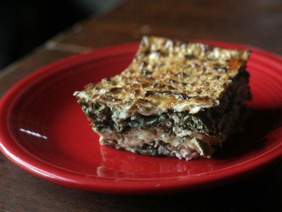 spinich feta matza pie for passover