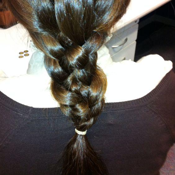 Trenza de 5 gajos: Hair Ideas, Hairstyles, Braid, Hairr, Swagg