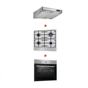Trio de cuisine four encastrable + Plaque de cuisson+ Hotte Proff