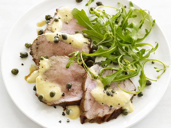 Pork Tonnato from Food Network Magazine #Protein #Veggies #MyPlate