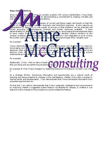 Management - Shape strategic thinking u2013 Professional Resumes - professional resumes