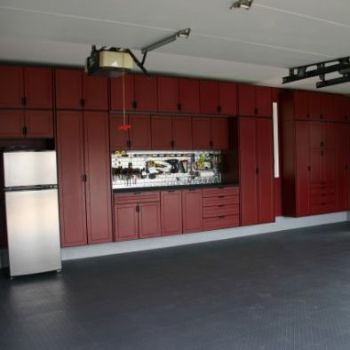 Garage Cabinets Ideas pictures of garage cabinets, floor coatings, and slatwall systems