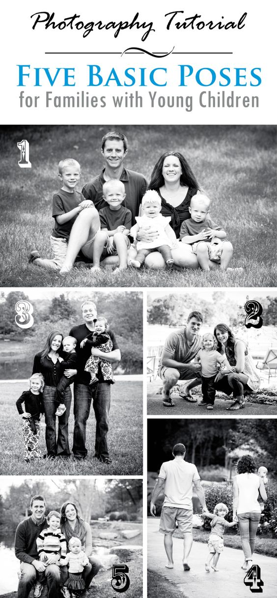 5 Basic Photography Poses for Families with Young Children | Pro Photo Inspiration