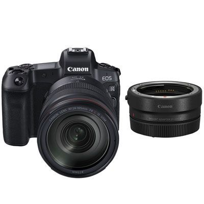 Canon Eos R Full Frame Mirrorless Camera With 24 105mm Lens Ef Eos R Mount Adapter En 2020
