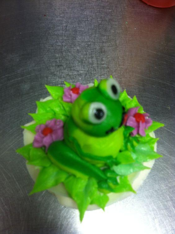 Cake cake Frog cupcake