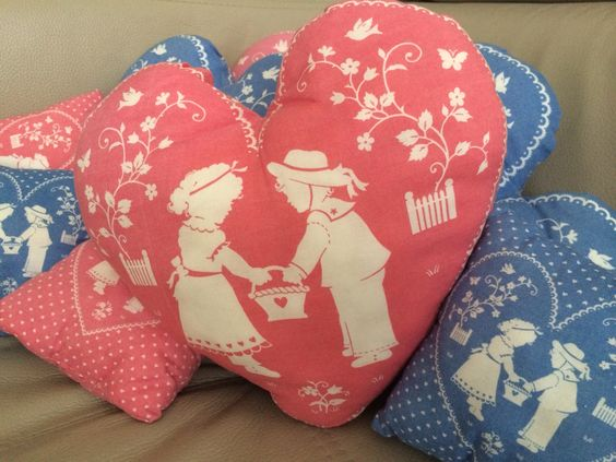 These pillows are made by marian, she is very creative