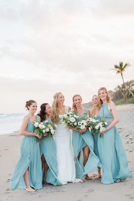 100 Most Elegant Beach Wedding Dresses Light Blue Aqua