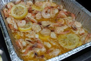 Never trust a skinny cook....: Shrimp on the grill: Cook Seafood, Grilling Recipes, Cook Shrimp, Grilled Shrimp Scampi, Cook Grilling, Cook Grilled, Grilling Ideas, Grilling Shrimp