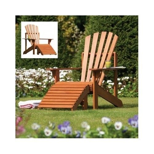 Details about Wooden Sun Lounger Chair Garden Outdoor Patio