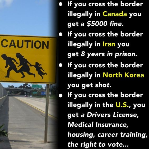 We owe illegals absolutely nothing. They have no right to come before our veterans, legal immigrants, and Americans.: