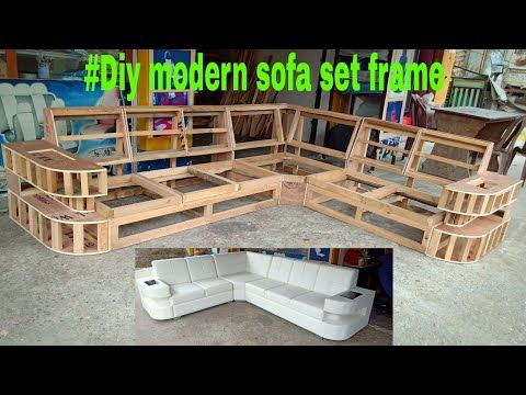 Diy Modern Sofa Set Frame Making Youtube Modern Sofa Set Sofa