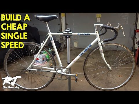 How To Build A Single Speed Bike Cheap Vintage Road Bike Conversion Youtube Single Speed Bike Road Bike Vintage Single Speed Road Bike