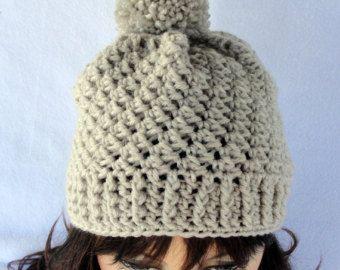 3D MAN Winter Hat PATTERN 5 sizes toddler child adult by crocknit