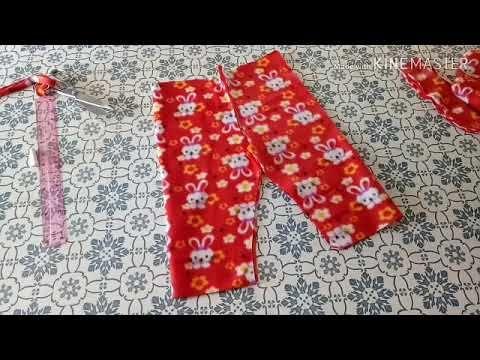 تفصيل وخياطة سروال صغير بعمر سنة ونصف مشررع Youtube Sewing Floral Tie Make It Yourself