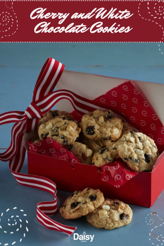Cherry And White Chocolate Cookies Daisy Brand Sour Cream Cottage Cheese Recipe Chocolate Cookies Yummy Cookies Christmas Baking