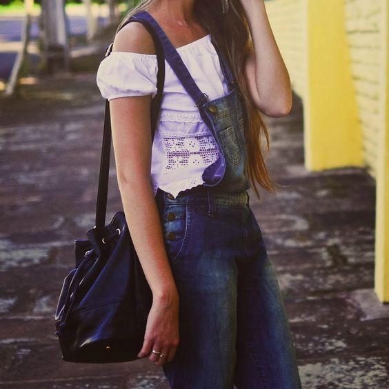 We love it: macacão com blusa ciganinha - Moda it