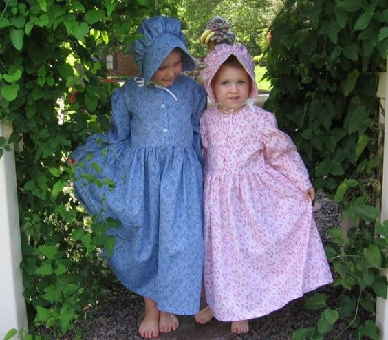 Details about Girl old-fashioned Pioneer prairie dress bonnet ...