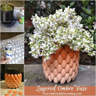 DIY Layered Ombre Vase