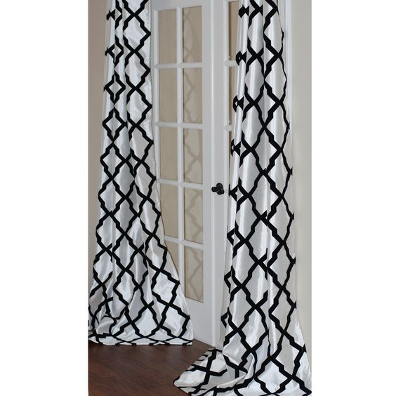 Lambrequin Trellis Bold Flocked Curtain Panel by Lambrequin ...