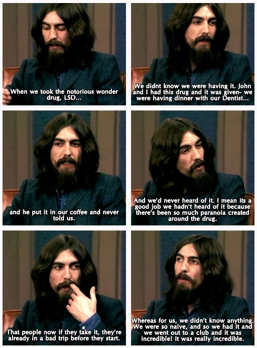 Image result for george harrison lsd