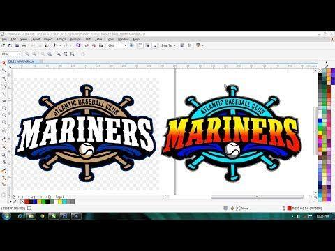 Proses Membuat Ualang Logo Mariner Di Coreldraw X7 Youtube Belajar Menggambar Lucu Gambar