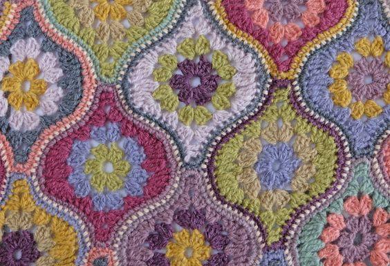 crochet design - hexagon variation