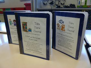 Take home journals- great idea!