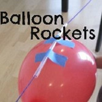 Balloon Rockets Action and reaction is a fairly simple concept – To make an object move one way, a force has to work in the opposite direction.In this case, the balloon is full of air.  When you let go of the balloon, causing the air to rush out of the opening, it creates a pushing force in the opposite direction.  This makes the balloon move.
