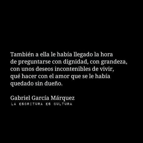 Que hacer con el amor? García Márquez