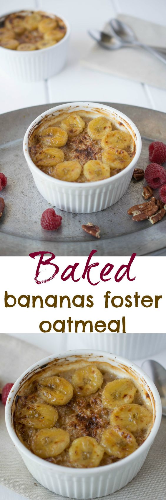 Vegan Bananas Foster Baked Oatmeal Recipe — Dishmaps