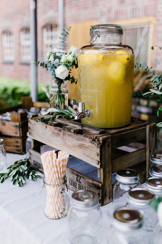Limonaden-Bar - frische Limonade für Eure Hochzeitsgäste