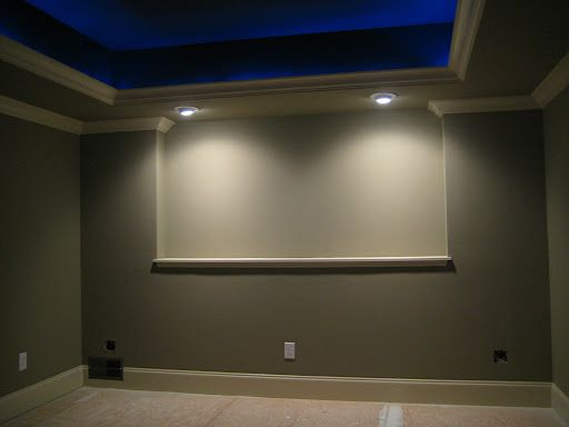 Tray Lighting Blue Tray Ceiling With Rope Lights