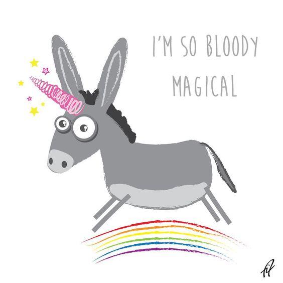 Awkward Illustration — Uni donk…so magical. #unicorn #donkey...