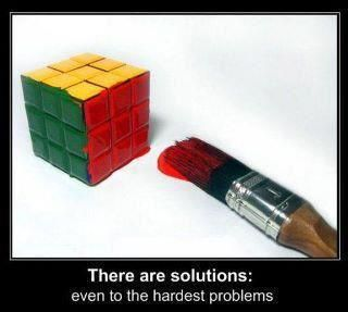 there are solutions...even to the hardest problems:
