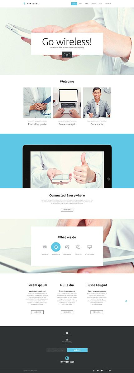 Template 52140 - Wireless Connect  Responsive Website Template