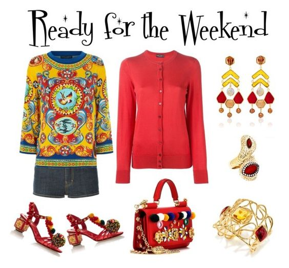 """""""Ready for the Weekend"""" by karen-galves ❤ liked on Polyvore featuring Dsquared2, Dolce&Gabbana and Andara"""