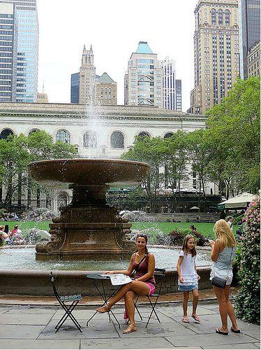 Bryant Park, New York City. September 3, 2013.