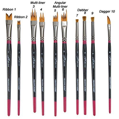 Creative Mark Fx Special Effects Paint Brush Set Unique Ribbon