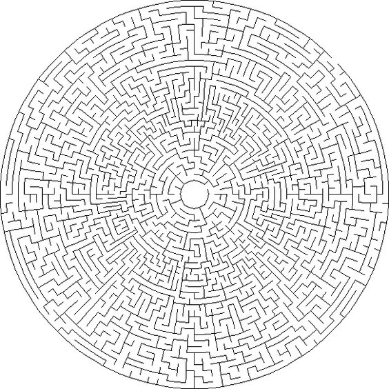 circular maze generator - Google Search | Die Grenze ...