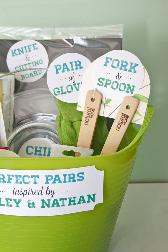 Perfect Pairs?: A bridal shower gift basket Dream Green DIY ...
