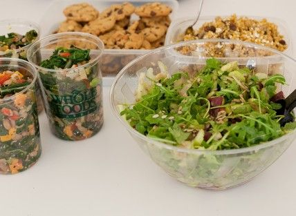 What We Ate for Lunch: Beet and Avocado Salad, Wild Mushroom Couscous, and Flourless Peanut-Chocolate Cookies, Wholeliving.com #lunchbunch