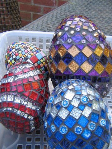 Mosaic Easter Eggs: