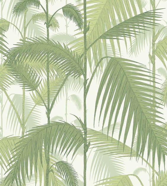 papel pintado palmeras selva verde telas papel