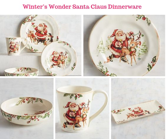 Winter's Wonder Santa Claus Dinnerware
