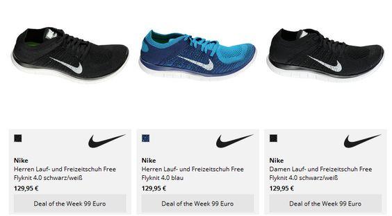 Laufschuh: Nike Free Flyknit 4.0 für 89 Euro statt 129 Euro