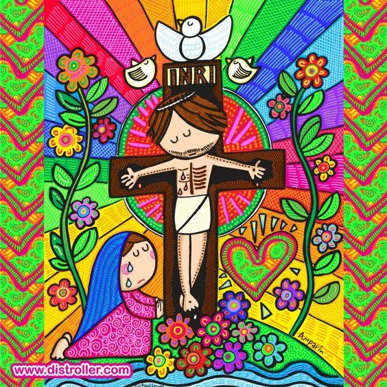 No llores Virgencita, no dejaremos que nadie vuelva a lastimar a JESUS
