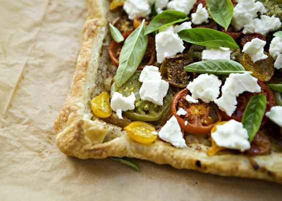 Tomato and Feta Tart - made this tonight and it was really good.