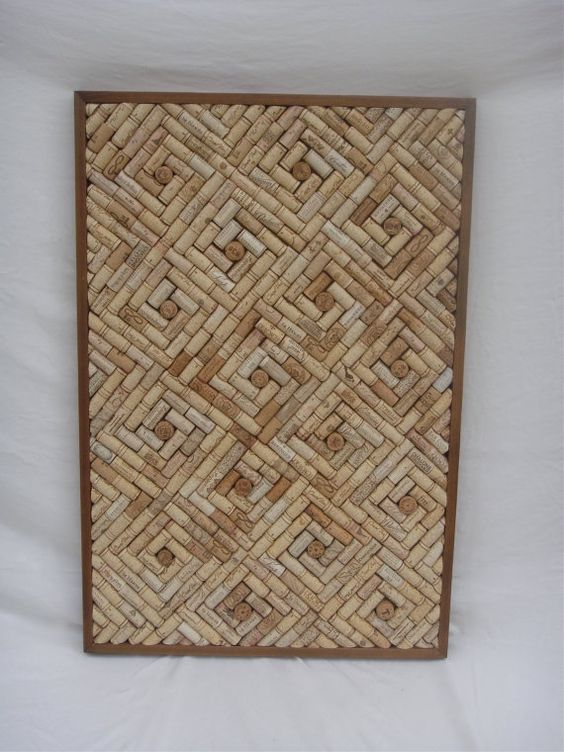 Wine cork cork board christmas ribbon cool patterns and for Wine cork patterns